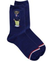 polo women's nautical polo bear crew socks