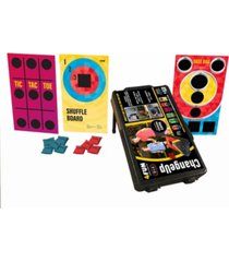 4fun change up 6 in 1 portable cornhole plus indoor & outdoor game system and tailgating table