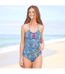 paisley waves tankini top
