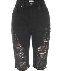 women's frame le vintage high waist denim bermuda shorts