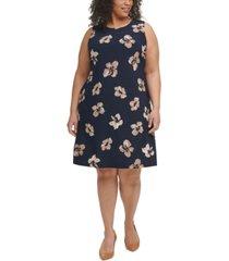 tommy hilfiger plus size floral-print shift dress