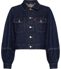 tailored trucker allow me jeansjack denimjack blauw levi´s women