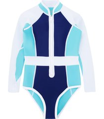 duskii girl long sleeve swimsuit - blue