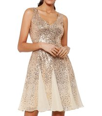 mesh sparkly sequined party dress