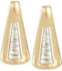 robert lee morris soho two-tone triangle drop earrings