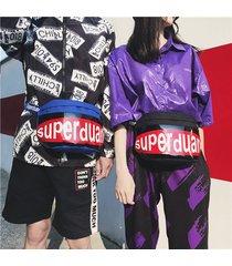 uomini e donne oxford hip-hop waist borsa street chest borsa