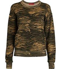 lauren tiger-print sweatshirt