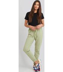 na-kd basic basic sweatpants - green
