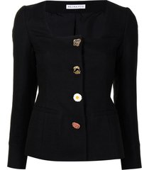 rejina pyo linn italian canvas jacket - black