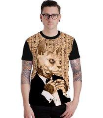camiseta lucinoze camisetas manga curta security cat preto