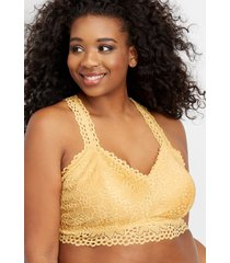 maurices plus size womens eyelet racerback bralette