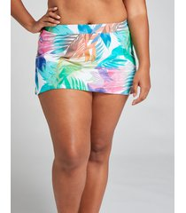 lane bryant women's slitted swim skirt 24 tropical rainbow