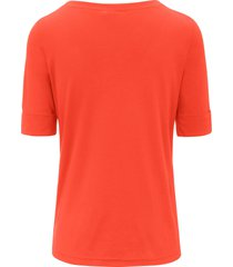 shirt boothals van efixelle oranje