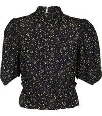 black viscose blend blouse