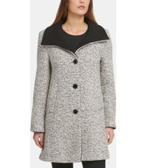 dkny boucle single-breasted coat, created for macy's