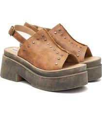 sandalia de cuero suela valentia calzados bety
