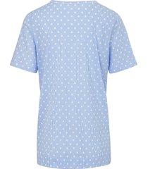 pyjama van 100% katoen met strepen en stippen van rösch blauw