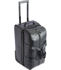pebbled leather carry-on rolling duffel bag