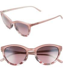maui jim star gazing 50mm polarizedplus2(r) cat eye sunglasses in matte blush/pink tokyo at nordstrom
