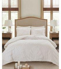 madison park bahari king/california king 3-pc. tufted cotton chenille palm comforter set bedding