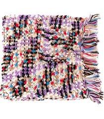 missoni chunky knit scarf - white