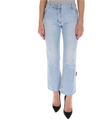 cropped wijd uitlopende jeans