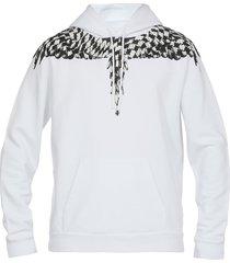 marcelo burlon cross pied de poule wings sweatshirt