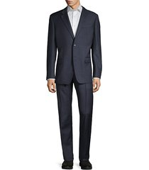 super 130's g-line fit check virgin-wool suit
