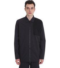 maharishi casual jacket in black nylon