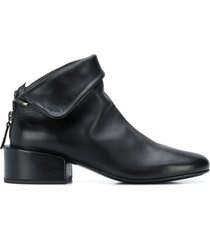 marsèll folded top ankle boots - black