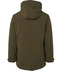 jacket, long fit,hooded parka,soft dk army