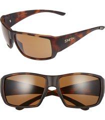 men's smith guide's choice 62mm chromapop(tm) plus sunglasses - matte havana