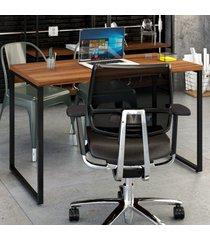 mesa escrivaninha kuadra nogal - compace