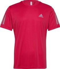 3-stripes club tee t-shirts short-sleeved röd adidas performance