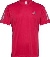 3-stripes club tee t-shirts short-sleeved röd adidas performance