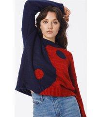 sweater multicolor john l cook ying yang
