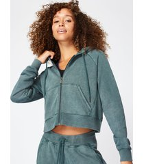 gary zip through cropped hoodie