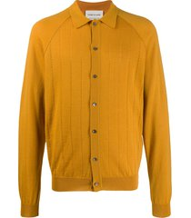 a kind of guise button-up shirt cardigan - yellow