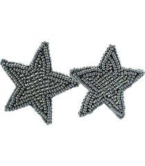 topo estrella tejido a mano gris plateado bijulovers