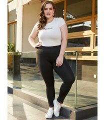 plus talla legging negro