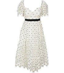 daisy lace midi jurk