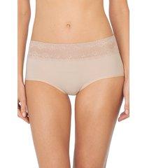 natori intimates bliss perfection one-size boyshort panty, women's, 100% cotton