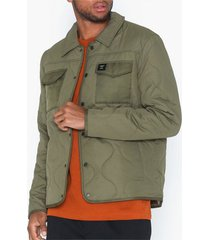 only & sons onsrain ribstop quilted jacket otw jackor grön