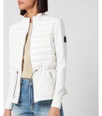 mackage women's joyce mixed padded jacket - white - l