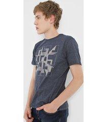 camiseta dudalina geométrica grafite - kanui