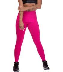 calã§a legging  miss blessed premium sobreposta rosa - rosa - feminino - poliamida - dafiti