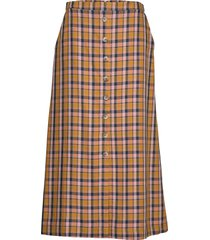 aciegz skirt ma19 knälång kjol multi/mönstrad gestuz