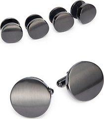 cuff link & shirt stud set/gunmetal