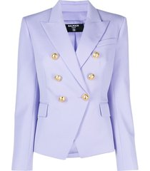 balmain double-breasted lilac viscose blazer