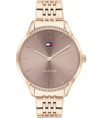 tommy hilfiger women's rose gold-tone stainless steel bracelet watch 36mm